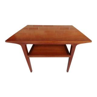 Drexel Counterpoint Cherry Wood Side Table by John Van Koert For Sale