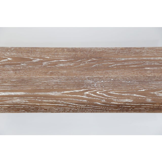 Mid-Century Cerused Oak Console For Sale In Houston - Image 6 of 13