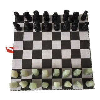 Onyx & Jade Travel Chess Set For Sale