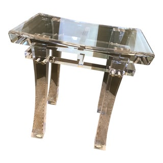 Contemporary Interlude Home Acrylic Tray Table For Sale