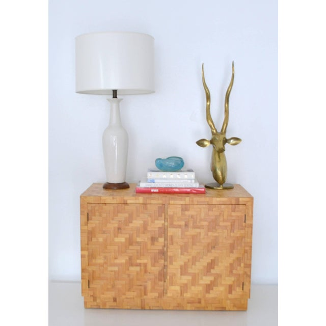 Midcentury Two-Door Rattan Cabinet For Sale - Image 10 of 11