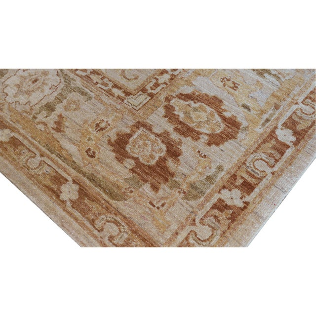 1990s Mansour Quality Agra Rug - 6′4″ × 7′8″ For Sale - Image 5 of 6