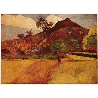 """1950s Paul Gauguin """"Tahitian Landscape"""", First Edition Lithograph For Sale"""