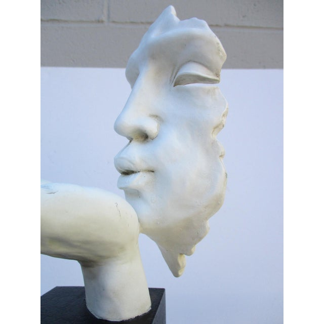 Modernist Sculpture the Kiss Abstract Hand For Sale - Image 11 of 11