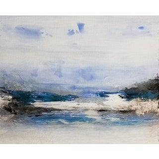"""Sea to Shining Sea"" Contemporary Abstract Coastal Fine Art Print For Sale"