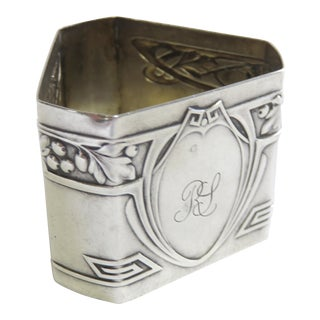 Early 20th Century Antique French Sterling Silver Napkin Ring For Sale