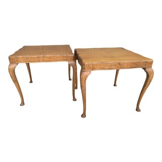 Wellington Hall French Country Queen Anne Side Tables-A Pair For Sale