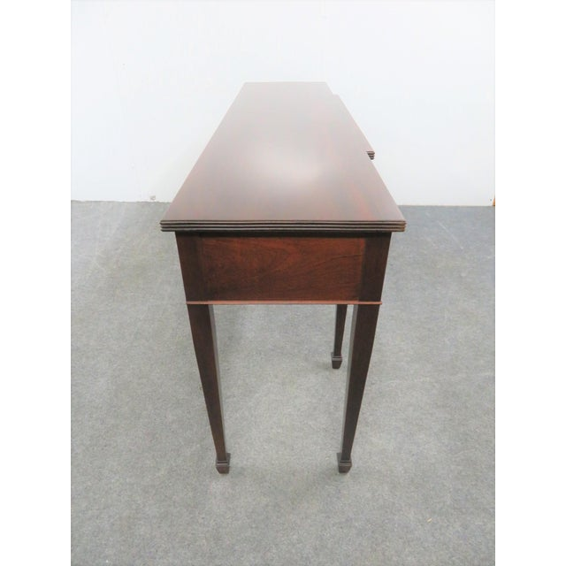 Late 20th Century Hepplewhite Madison Square Solid Mahogany Sideboard For Sale - Image 5 of 10
