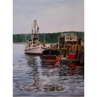 """Josh Moulton """"Port Clyde, Maine"""" Giclee Print After a Painting For Sale"""