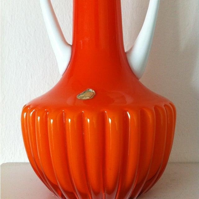 Cased Orange Empoli Vessels - Set of 3 - Image 4 of 6