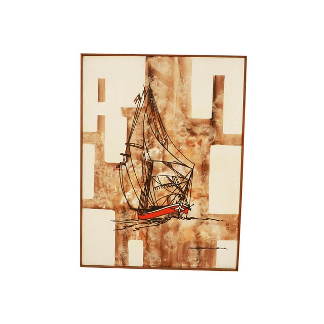 Canvas Michael Quincy Rothwell Mid Century Abstract Expressionist Original Oil Painting Signed For Sale - Image 7 of 11