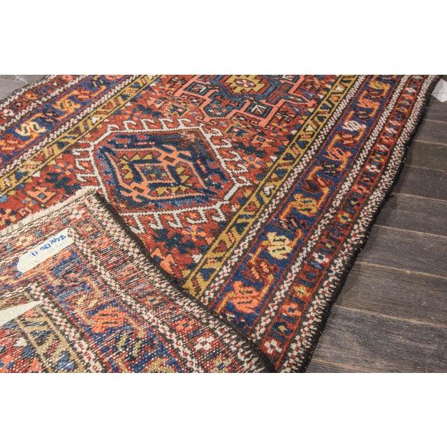 """Antique Heriz Wool Rug- 2'6"""" x 4'5"""" - Image 5 of 7"""
