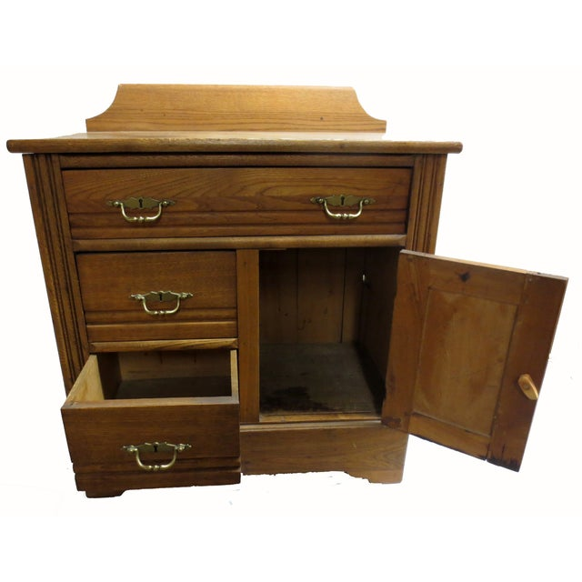 Oak Commode Cabinet - Image 3 of 8