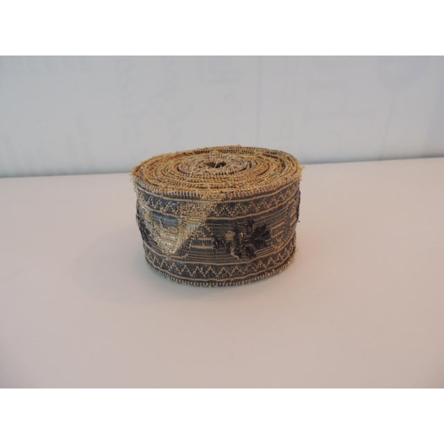 19th Century Set of (4) Tarnish Gold Metallic Woven Decorative Trims For Sale In Miami - Image 6 of 7