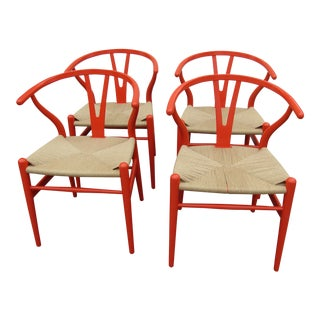 1990s Vintage Carl Hansen & Son Wishbone Chairs- Set of 4 For Sale