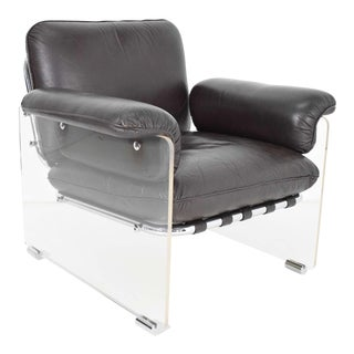 Pace Collection Argenta Lucite Lounge Chair For Sale
