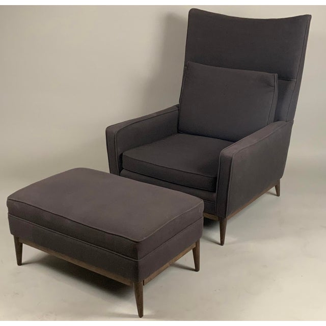 1950s Paul McCobb for Directional High Back Lounge Chair and Ottoman For Sale - Image 10 of 10