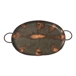 Large Copper and Catch-All Tray For Sale