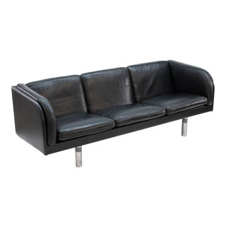 1970s Jorgen Gammelgaard for Erik Jorgensen Danish Modern Leather Sofa For Sale