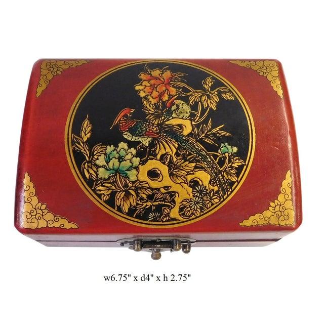 Chinese Red Rectanuglar Box - Image 2 of 5