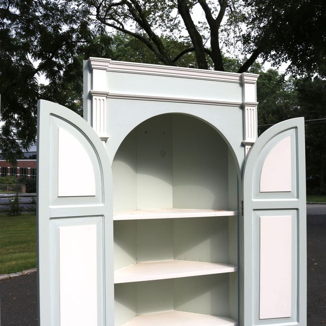 Custom Arch Panel Corner Cabinets - A Pair - Image 9 of 11
