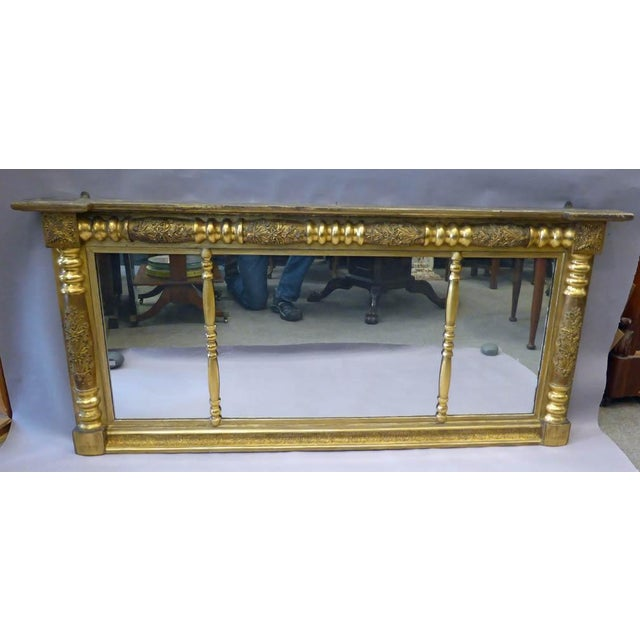 Early 19th Century Gilded Empire Overmantle Mirror For Sale - Image 4 of 4