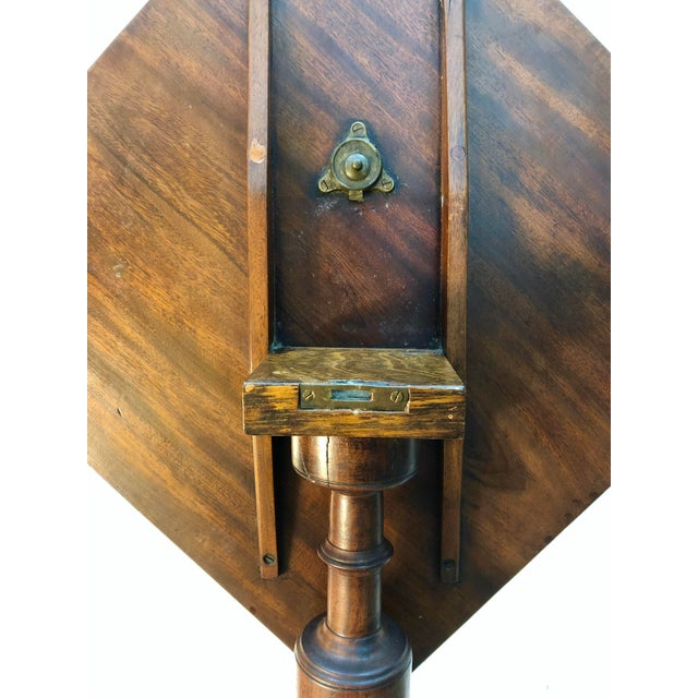 19th Century Federal Mahogany Tilt Top Candle Stand Table For Sale - Image 9 of 13