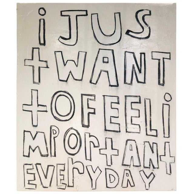 "Contemporary Large Modern Oil Painting ""i Just Want to Feel Important Everyday"" For Sale In Greensboro - Image 6 of 6"