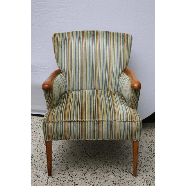 Traditional Heywood Wakefield Upholstered Chair, 1960s, USA For Sale - Image 3 of 8