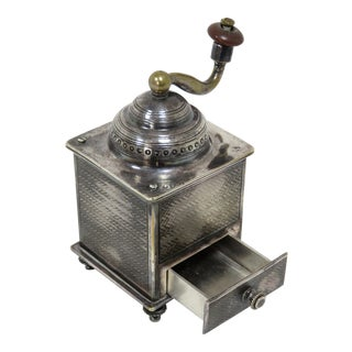 19th Century Figurative Silver Plate Pepper Mill For Sale