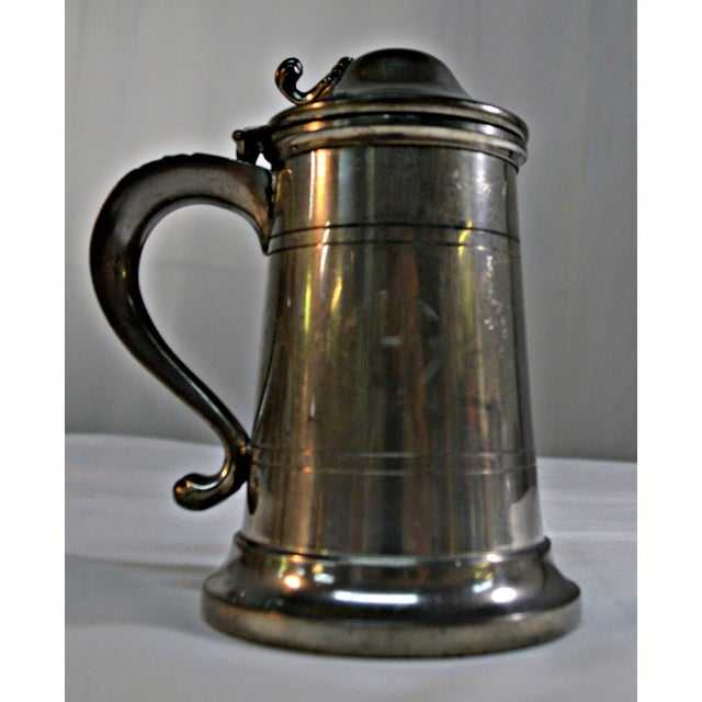 English Pewter Clear Bottom Beer Tankard Mug - Image 3 of 7