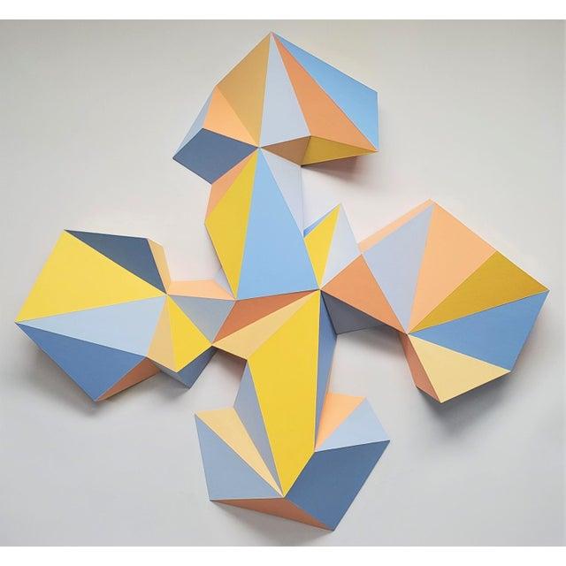 "Mustard Sassoon Kosian ""Crossroads"" Wall Sculpture For Sale - Image 8 of 9"