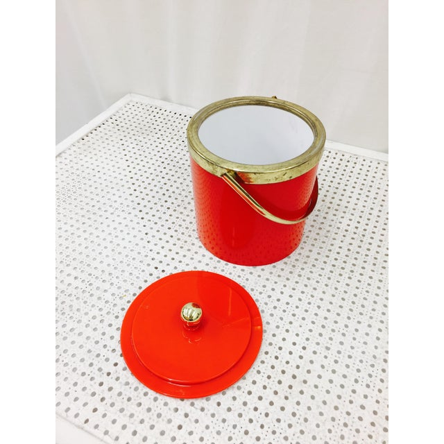 Vintage Red & Gold Ice Bucket - Image 10 of 10