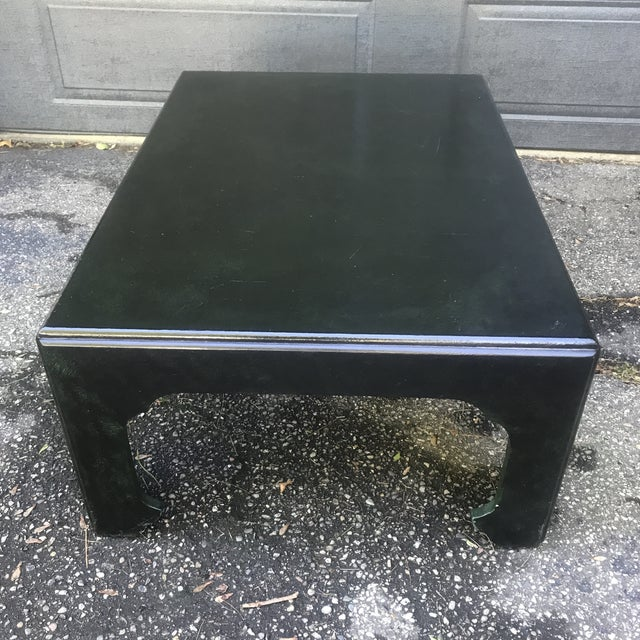 Chinoiserie Green Painted Coffee Table by Baker Furniture For Sale - Image 6 of 10