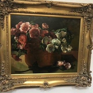 Gilt Framed Flowers Painting Preview