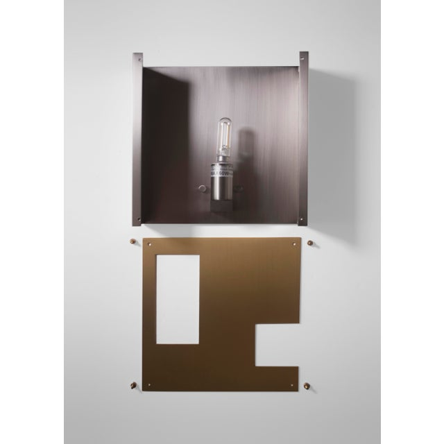 Early 21st Century Modern Contemporary 001 Sconce in Brass by Orphan Work For Sale - Image 5 of 5