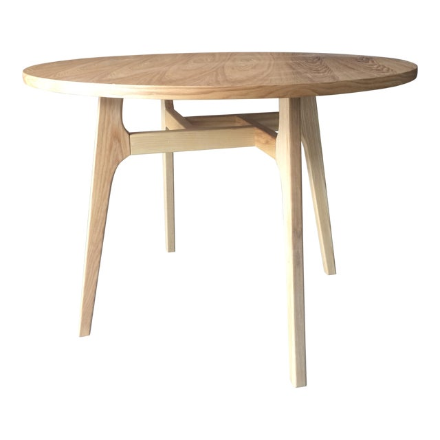 Mid-Century Modern Round Wood Table - Image 1 of 3