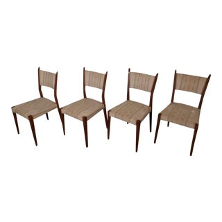 Paul McCobb Angled Back Chairs - Set of 4 For Sale