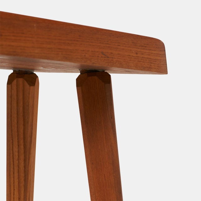 Stools by Pierre Chapo Model S01A - a pair For Sale In San Francisco - Image 6 of 7