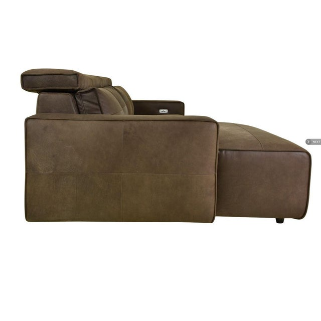 Contemporary Kenneth Lugwig Davis Top Grain Leather Sectional For Sale - Image 3 of 7