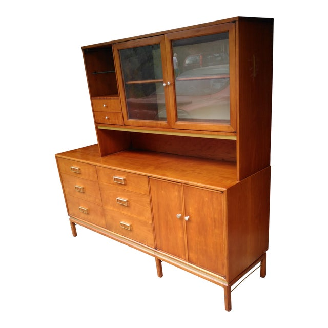 Kipp Stewart for Drexel Sun Coast Credenza With Hutch For Sale