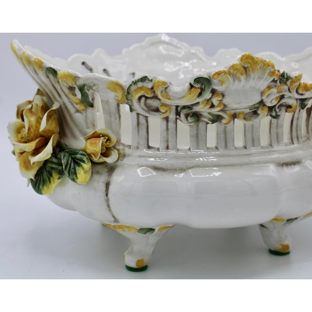 Italian Ceramic Footed Jardiniere For Sale - Image 4 of 13