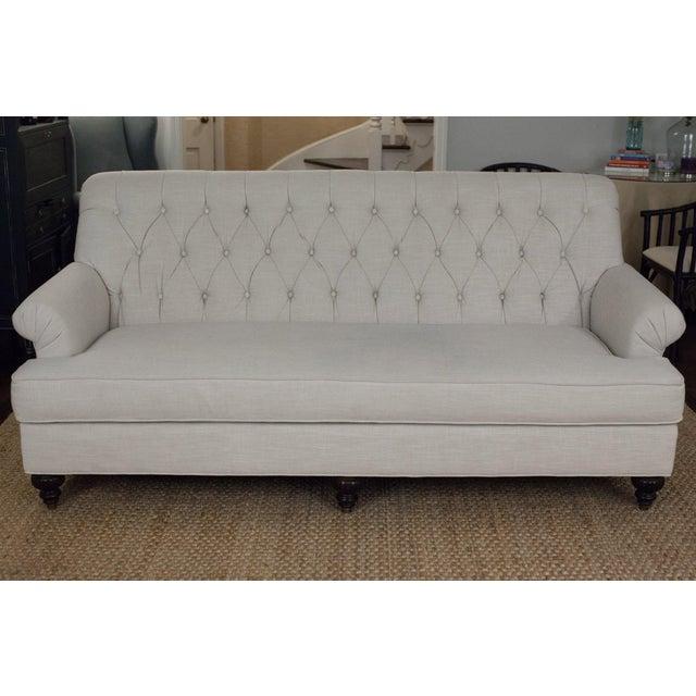 Highland House Linen Tufted Sofa - Image 2 of 8