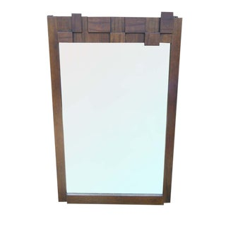 Paul Evans Style Brutalist Mirror For Sale