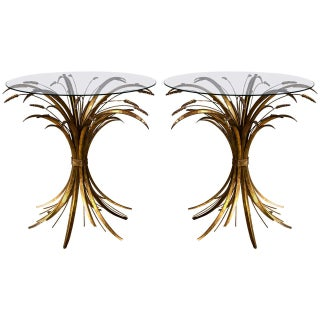 Italian Gilt Wheat Sheaf Tables - A Pair