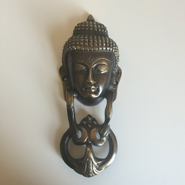 Asian Brass Buddha Door Knocker For Sale - Image 3 of 6