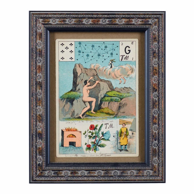Late 19th Century Antique Grand Jeu Lenormand Tarot Cards - Set of 23 For Sale - Image 9 of 11