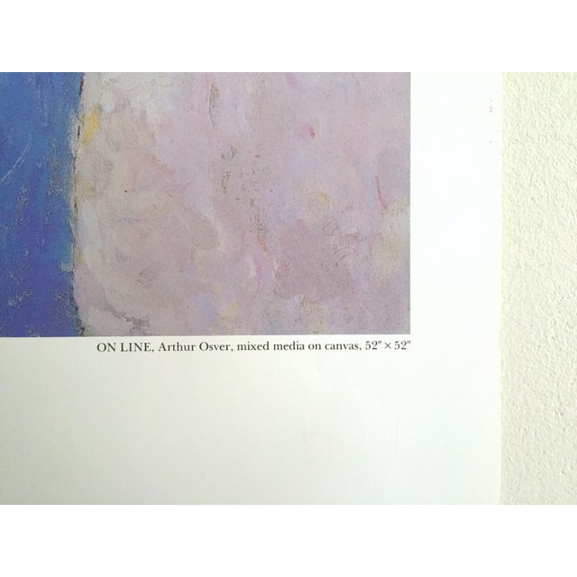 Arthur Osver Vintage 1985 Abstract Expressionist Lithograph Print St. Louis Arts Festival Exhibition Poster For Sale - Image 11 of 13