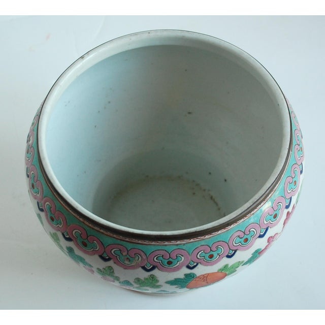 Pink 19th Century Chinese Famille Rose Cachepot For Sale - Image 8 of 10
