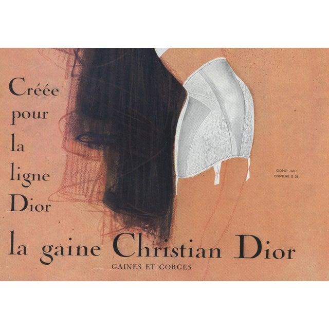 a4e478f10 Mid-Century Modern Mid-Century Christian Dior Lingerie Fashion  Advertisement Print by Gruau For